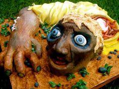 Halloween torten Deko zombie kopf