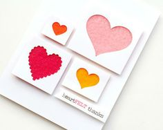 Card Making Ideas - Learn How to Make Handmade Cards! Valentines Gifts For Him, Valentine Day Crafts, Valentine Cards, Scrapbook Supplies, Scrapbook Cards, Scrapbooking, Fabric Cards, Heart Cards, Artist Trading Cards