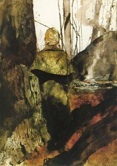 Andrew Wyeth, Campfire (Helga series), 1982