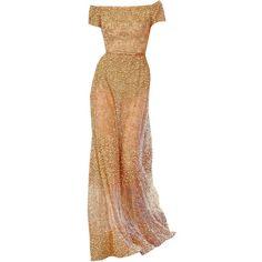 elie saab edited by metalheavy ❤ liked on Polyvore featuring dresses, gowns, vestidos, abiti, beige dress, beige gown, elie saab, elie saab dresses and elie saab evening dresses
