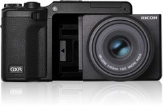 Ricoh's GXR compact camera system. I've always admired this idea. Unfortunately it requires that you buy into their system etc. But still something to keep an eye on...