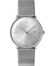 Mens Junghans Max Bill Silver Steel Bracelet Watch 540.00 Watches2U