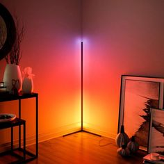 Nordic Corner Floor Lamps Bright Light Interior Atmosphere Lamp Colourful Bedroom Living Room Decoration Lighting Standing LampBrand Name: JAXLONGIs Bulbs Included: YesStyle: NoveltyLight Source: . Corner Floor Lamp, Bright Floor Lamp, Bedroom Scene, Mood Lamps, Led Licht, Luz Led, Moroccan Decor, Led Lampe, Simple House