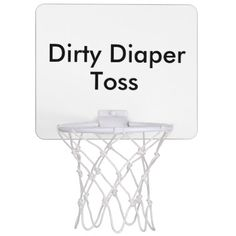 If you decide to make it coed, Dirty Diaper Toss Baby Shower Game Mini Basketball Hoops