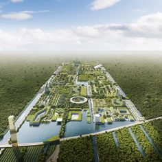 """Stefano Boeri unveils Smart City covered in million plants for Italian architect has unveiled plans to create a forested near Mexico, that is designed to be a """"pioneer"""" of more eco-efficient developments. Green Architecture, Futuristic Architecture, Concept Architecture, Biophilic Architecture, Different Types Of Houses, Green Facade, Eco City, Sustainable City, Forest City"""
