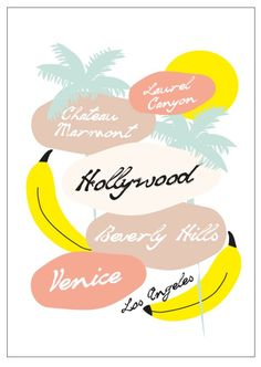 Los Angeles City Poster by Lilys Island