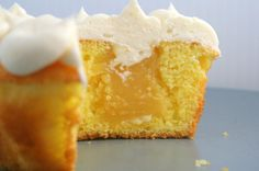 Delicious Lemon Curd Cupcakes made with freeze dried eggs and lemon powder.  My kids favorite!