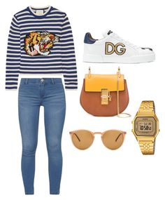 """Sin título #23"" by danielasanabria on Polyvore featuring moda, Gucci, Oliver Peoples, Dorothy Perkins, Dolce&Gabbana y Casio"
