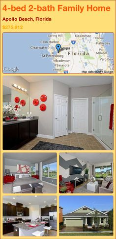 4-bed 2-bath Family Home in Apollo Beach, Florida ►$275,812 #PropertyForSale #RealEstate #Florida http://florida-magic.com/properties/15166-family-home-for-sale-in-apollo-beach-florida-with-4-bedroom-2-bathroom