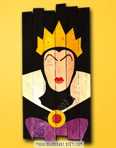 Evil Queen painted wood sign / Disney / villain / Evil Queen Sign / Snow White gift USD) by MookieWoodArt Disney Diy, Disney Crafts, Snow White Evil Queen, Halloween Canvas, Disney Paintings, Disney Rooms, Disney Kunst, Painted Wood Signs, Hand Painted