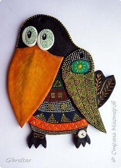 Поделка изделие Лепка Роспись Знакомьтесь  Тесто соленое фото 1 Ceramic Animals, Ceramic Birds, Ceramic Clay, Pottery Sculpture, Sculpture Clay, Clay Art Projects, Clay Crafts, Polymer Clay Art, Handmade Polymer Clay
