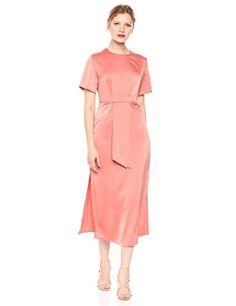 C/MEO COLLECTIVE Women's Provided Short Sleeve Mock Neck Cut-Out Midi Dress Satin Mini Dress, Silk Dress, Peplum Dress, Modest Dresses Casual, Mock Neck, Designer Dresses, Short Sleeves, Mini Dresses, Elegant