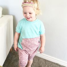 My princess babe in her Crown comfy headband (perfect for birthday parties!) in the MOST comfy outfit from @paradise_kids_clothing  seriously so perfect for spring!