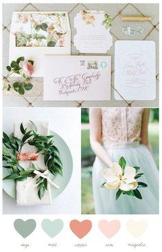 Color Palette: Mint + Magnolia