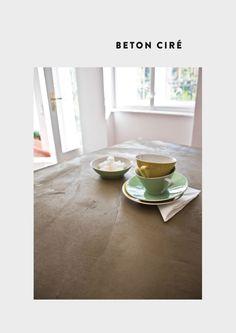 Küchenarbeitsplatte bespachtelt mit Béton Ciré Original von www.betoncire.at Farbe No. 7 Olivier