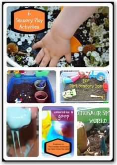 6 sensory play activities - low cost but high on FUN!