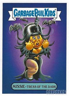 The Garbage Pail Kids Sticker Gallery for We Hate the Celebrities features hi res images of every sticker in the subset! Gi Joe, Garbage Pail Kids Cards, Kids Fans, Horror Movie Characters, Dark And Twisted, Good Old Times, Kids Artwork, Kids Stickers, Buy Weed Online