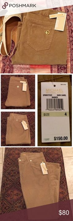 Michael Kors Corduroy Skinny Pants MK skinny corduroy jean in the color dark camel. Gold hardware and MK symbol on the back pocket. Will measure inseam and waist upon request. Michael Kors Pants Skinny