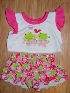 Build a Bear Clothes Clothing Outfit Frog Tee Shirt and Shirts