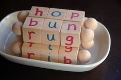 Montessori Reading Blocks - Three Letter Phonetic Words - Beginning Reader Tools - Learn to Read