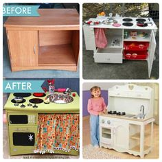 Melinda'sCreative Wishes: Making Toy Kitchens and Sponge Food Kitchen Sets For Kids, Toy Kitchen Set, Kids Play Kitchen, Mini Kitchen, Play Kitchens, Activities For 2 Year Olds, Toddler Activities, How To Make Toys, Baby Necessities