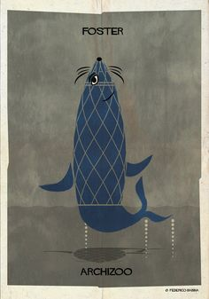 """ARCHIZOO: Illustrated Architectural """"Animals"""" from Federico Babina"""