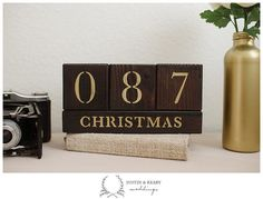 Christmas Countdown Blocks  > Days till Christmas  x-mas by kearydee on etsy