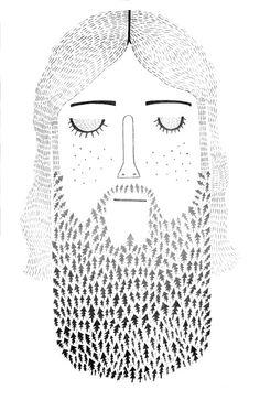 this makes my heart happy / tree beard!