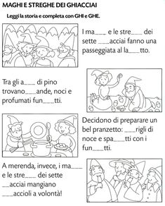 Italian Verbs, Italian Lessons, Montessori Math, Reading Worksheets, Picture Story, Italian Language, Learning Italian, Study Skills, Teaching Materials