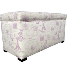 Paris Storage Bench in French Grape