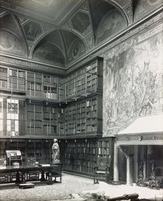 The library in the home of JP Morgan. The house was the first with electric lighting in NYC and it was installed personally by Thomas Edison.