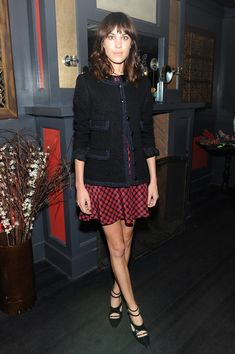 Alexa Chung attends NYLON + Sanuk celebrate the October 'It Girl' issue with cover star Alexa Chung at La Cenita on October 8, 2013 in New Y...