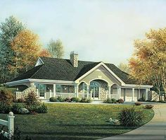 Plan W57130HA: Country House Plans & Home Designs