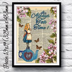 Reproduction dictionary art poster Alice in by IntheFrameShop, £11.99