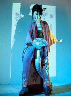 Punk Geisha Photography: 'Cherry Blossom Girl' by Nicoline Patricia Malina is Culturally Glamtastic Japanese Geisha, Japanese Kimono, Projector Photography, Cherry Blossom Girl, Oriental, Memoirs Of A Geisha, Wild Girl, Dazed And Confused, Japan Photo
