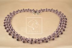 Simple and elegant plum-colored necklace. Click the pic, it takes you to the tutorial. Easy Beading Tutorials, Plum Tree, Beadwork, I Am Awesome, My Design, Trees, Beads, Elegant, Diamond