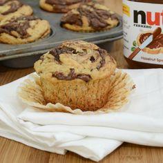 banana nutella muffins