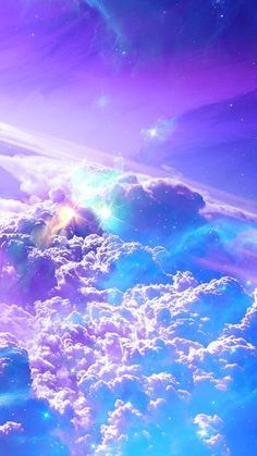 Wallpaper Android – Cotton candy clouds up in the sky – what a delightful, dazzling nature photo 500 x 888 Galaxy Wallpaper Iphone, Rainbow Wallpaper, Planets Wallpaper, Purple Wallpaper, Iphone Background Wallpaper, Colorful Wallpaper, Glitter Wallpaper, Night Sky Wallpaper, Wallpaper Space