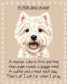 west highland terrier cross stitch - Поиск в Google