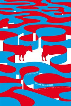 poster by Japanese graphic designer Shigeo Fukuda via design union. Poster Design, Graphic Design Posters, Graphic Design Illustration, Graphic Design Inspiration, Typography Design, Graphic Art, Print Design, Web Design, Pattern Illustration