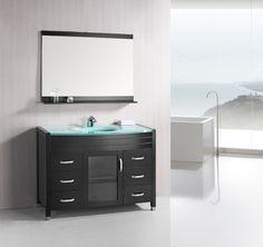 Design Element - Cascade Single Sink Vanity Set