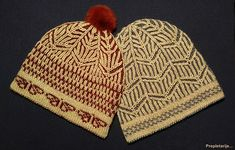 """Two warm winter beanie hats – """"For Her"""" and """"For Him"""" (for couples, for best friends, brother and sister…). Many ideas have been packed into a small project like a hat. Some of my inspirations were traditional Fair Isle fisherman hat and the song """"Tea for two"""". St Valentine's Day and the ability to combine complementary 2 color knitting techniques were used as motive. For these prototypes I used budget-friendly yarn and red-blue stereotype, but they can be made in any color combination and…"""