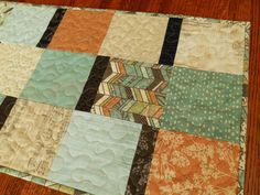Modern Quilted Table Runner in Moda Sweet Serenade by SusiQuilts