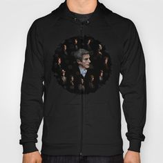 All Doctor Who Regeneration HOODY UNISEX #hoody #clothing #digital #drawing #ink #pen #colored #pencil #illustration #figurative #pattern #doctorwho #christmas #christmasgift #davidtennant #10thdoctor #tardisdoctorwho #tardis #thedoctor #12thdoctor