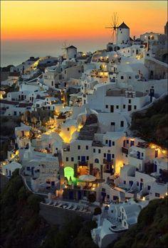 Santorini in Dusk, Greece
