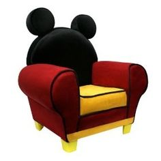 Mickey Mouse Chair would look so cute in a Mickey themed classroom as a reading chair!