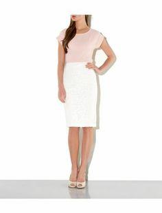 Cream (Cream) Cream Floral Lace Pencil Skirt | 304509813 | New Look