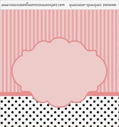 Oh My Fiesta! in english: Pink, White and Black Stripes and Polka Dots: Free Printable Candy Bar Labels. Photo Frame Wallpaper, Framed Wallpaper, Printable Labels, Free Printables, Paris Background, Oh My Fiesta, Candy Bar Labels, Pink And White Stripes, Paris Theme