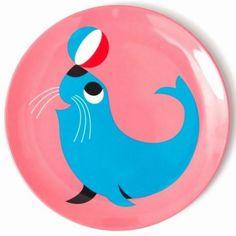 Kidsdinge ingela zeehond eetbord melamine from www.kidsdinge.com #Speelgoed #Cadeautjes #Kinderkamer #Kids #Kinderkameraccessoires #Onlineshop #Brasschaat