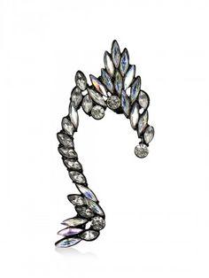 Style Fiesta Tear Drop Diamante Earcuff purchase from koovs.com Earrings Online, Turquoise Bracelet, Drop, Bracelets, Jewelry, Women, Style, Fashion, Swag